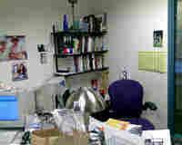 David Gura's cluttered desk.