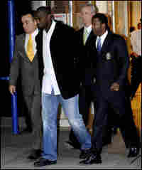 Plaxico Burress turned himself in Monday.