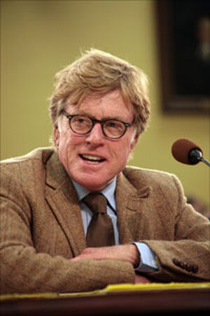 Robert Redford on Capitol Hill in April.