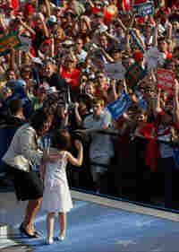 Sarah and Piper Palin at a campaign stop.