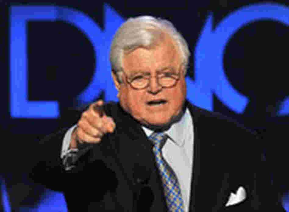 Sen. Ted Kennedy addresses the DNC.