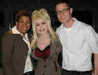 Pictured: TMM Host Michel Martin (l-r), Dolly Parton and TMM Producer Douglas Hopper