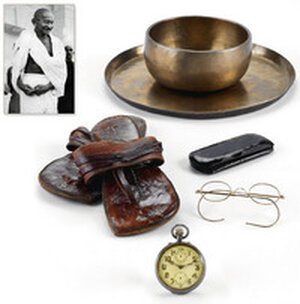 Items once belonging to Mohandas K. Gandhi.
