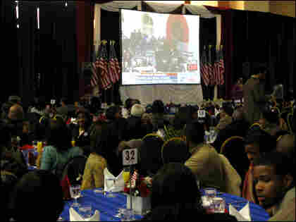 Howard University's inauguration viewing brunch.