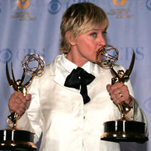 Television talk show host Ellen Degeneres poses at the 34th Annual Daytime Emmy Awards on June 15, 2