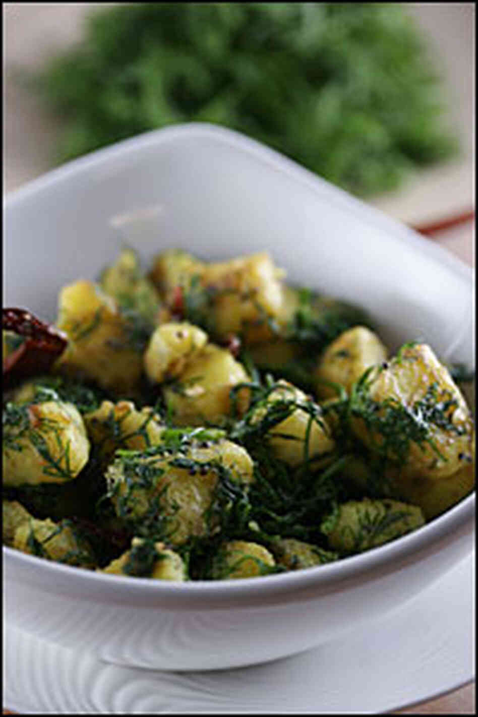 Mustard Potatoes with Dill