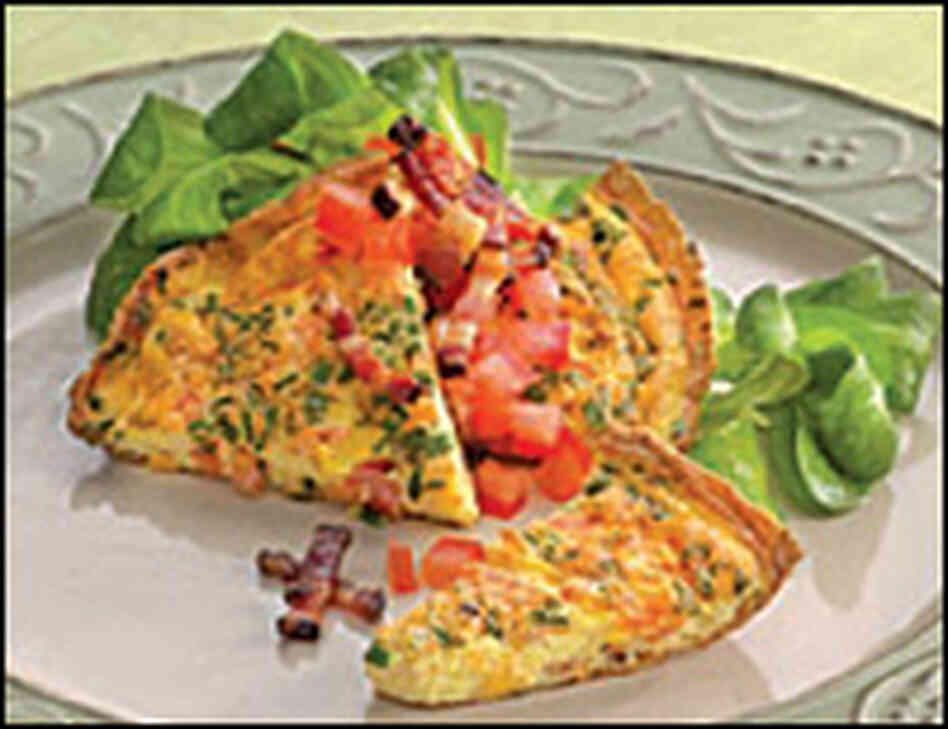 Vermont Apple, Cob-Smoked Bacon, and Cheddar Cheese Frittata