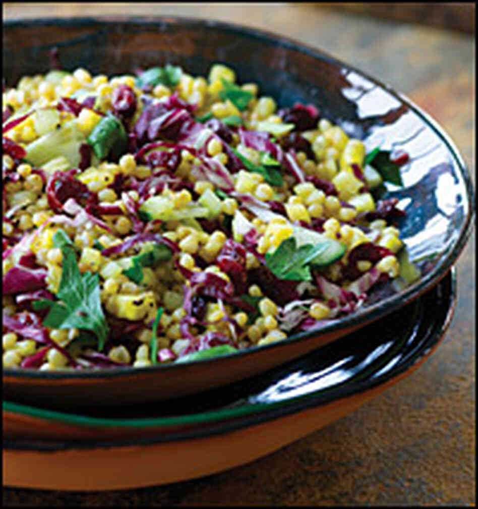 Wheat Berry Salad with Pineapple and Cranberries