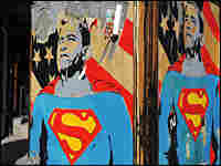President-elect Barack Obama depicted as Superman