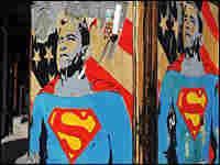 President-elect Barack Obama depicted as Superman