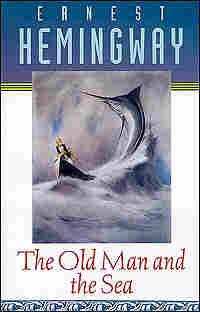 A cover for a 1995 reprinting of Hemingway's short novel shows man battling a marlin.