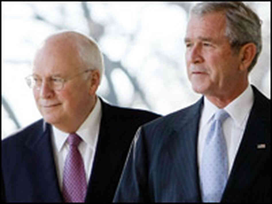 Vice President Dick Cheney and President George Bush