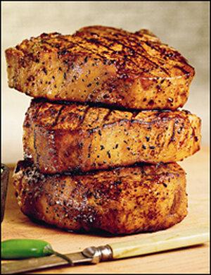 Southwest-style pork chops