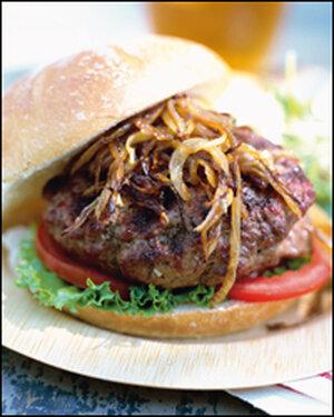 Herb Cheese-Stuffed Garlic Burger