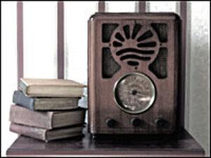 Radio with books