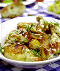 Grilled Chicken with White Rosemary Barbecue Sauce