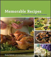 'Memorable Recipes To Share With Family and Friends' cover