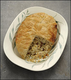 Chicken Pilaf Wrapped in Phyllo