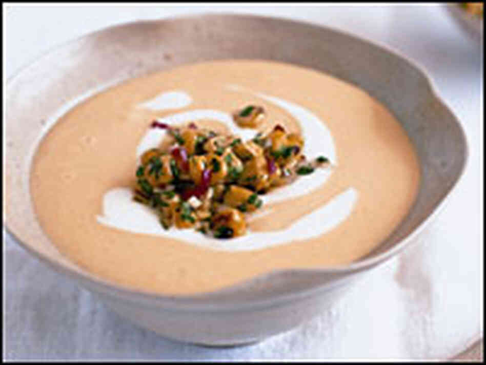 Lemongrass and Sweet Corn Soup with Creme Fraiche