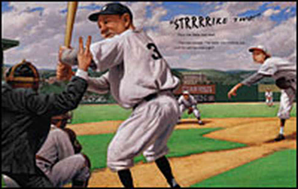 Detail from cover of 'Mighty Jackie, the Strikeout Queen'
