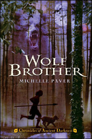 Detail from the cover of 'Wolf Brother'