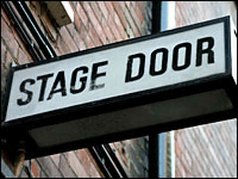 'Stage Door' sign