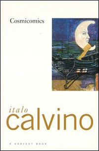 Book cover for Italo Calvino;s 1965 short-story collection, Cosmicomics.