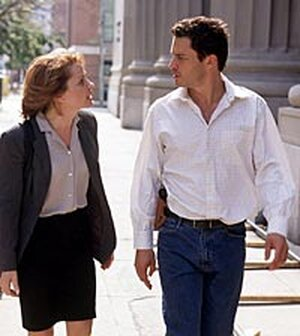 Deirdre Lovejoy and Dominic West in a scene from 'The Wire'