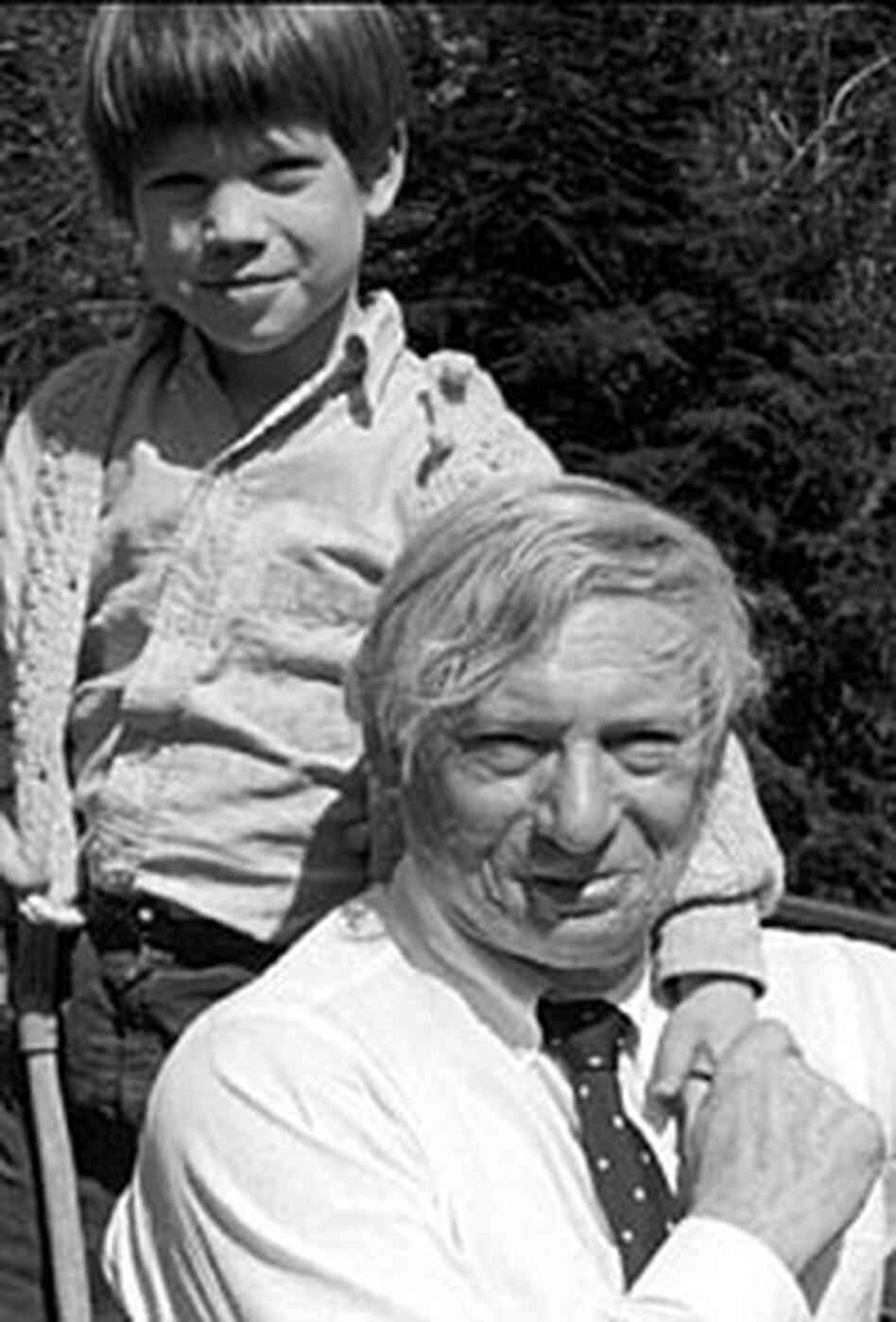 Louis I. Kahn and Nathaniel Kahn circa 1970.