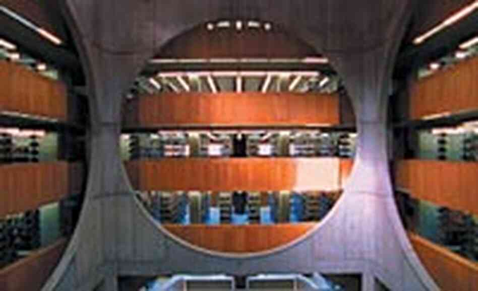The Phillips Exeter Academy Library in Exeter, N.H., designed by Louis I. Kahn.