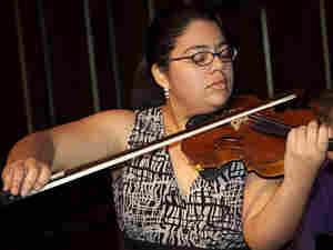 Violinist Karen Cueva