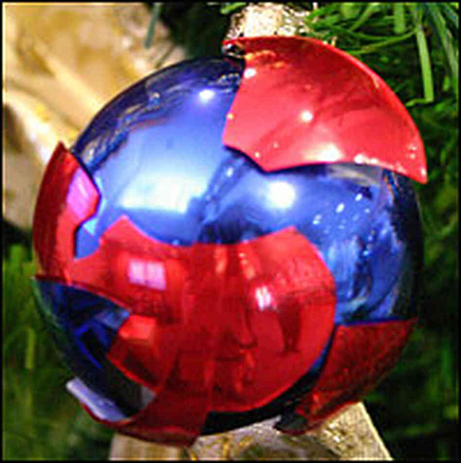 Red State / Blue State Christmas Ornament