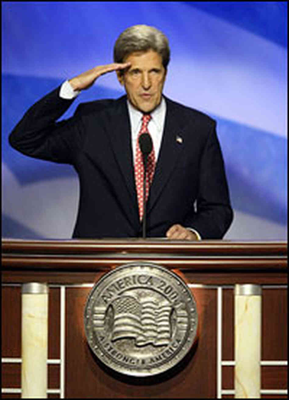 John Kerry saluted when he accepted the Democratic nomination in 2004.
