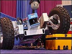 The Cave Crawler mining robot: the latest prototype developed by Carnegie-Mellon University.