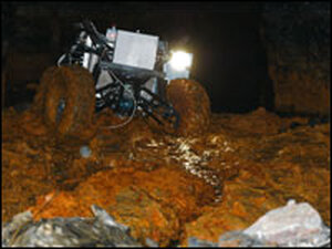 A mining robot, called Groundhog, in action at a Pennsylvania coal mine.