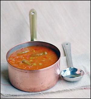 Okra and split yellow pea stew