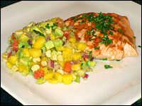 Salsa and salmon