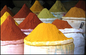 Indian Spices in Sacks
