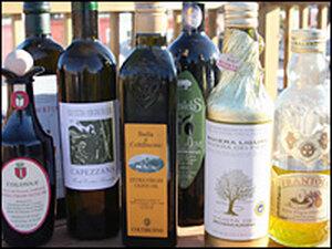 Fine olive oils, like fine wines, come in beautiful bottles
