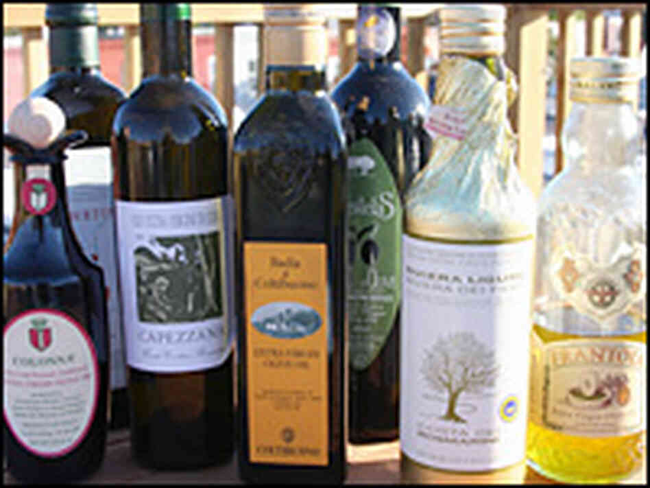 Fine olive oils, like fine wines, come in beautiful bottles