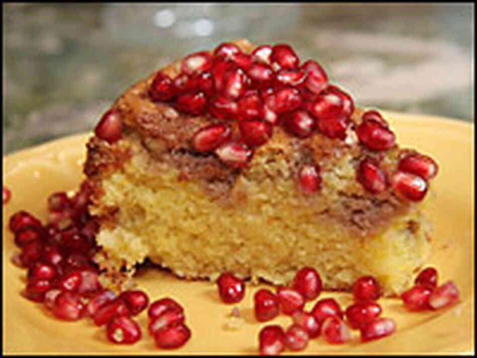 Pomegranate Jewel Cake Recipe