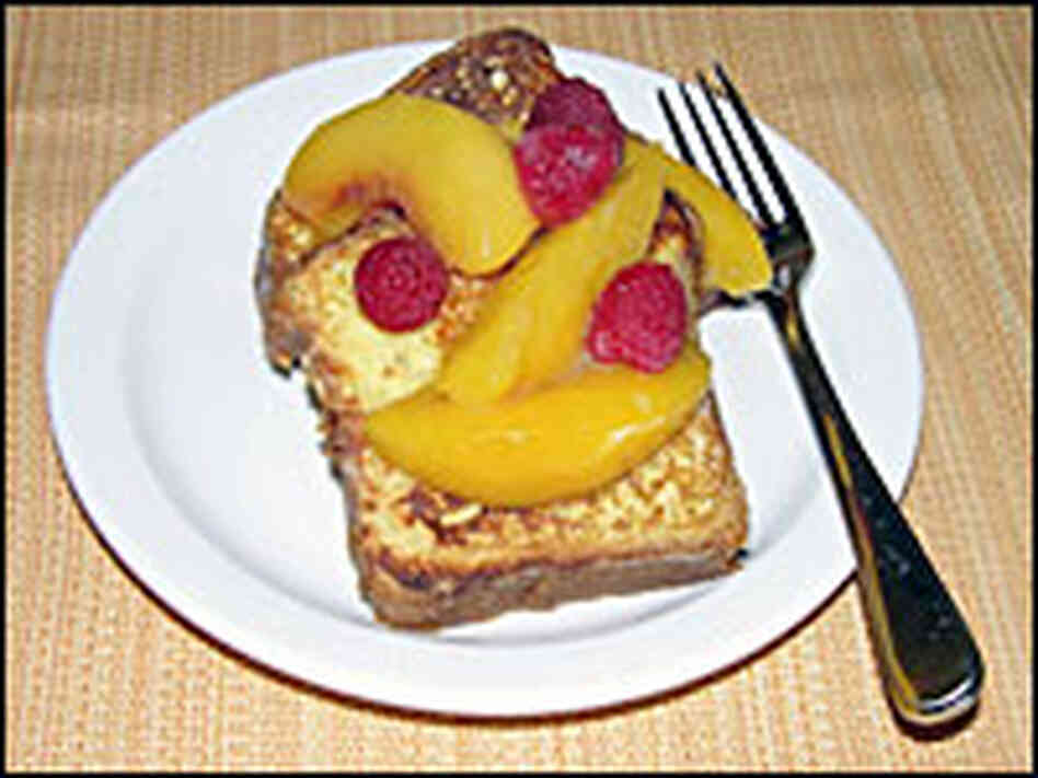 Brioche French Toast with One-World Peaches