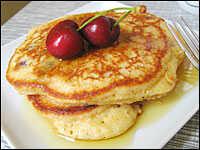 Cherry-Cornmeal Pancakes