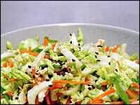 Napa Cabbage and Sesame Seed Slaw