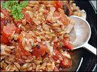 Spelt with Salmon-Tomato Sauce