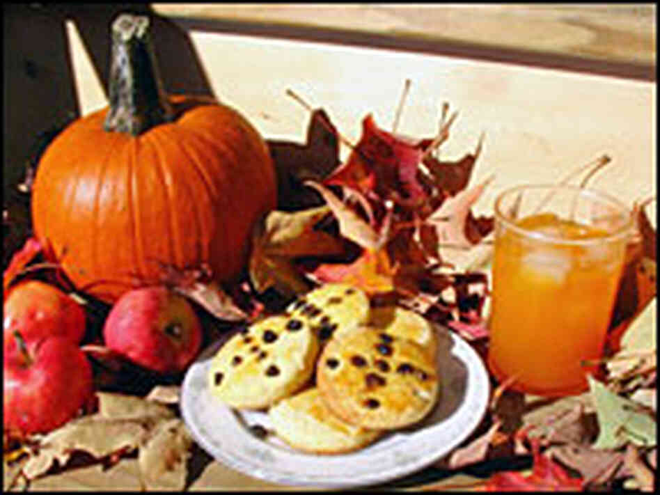 Soul cakes and iced pumpkin juice