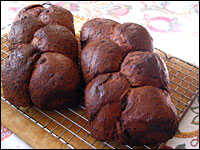 Loaves of chocolate bread