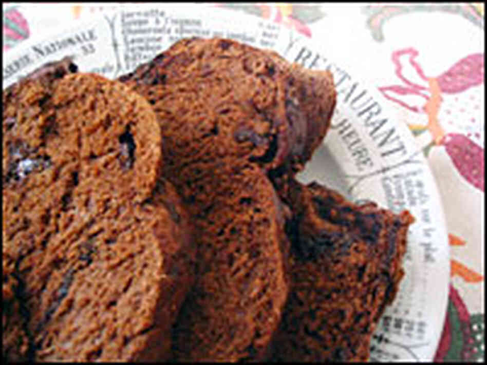 Slices of chocolate bread