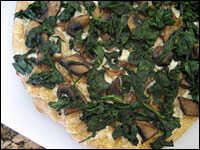Roasted Garlic, Fontina and Veggie Pizza