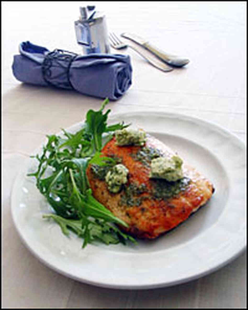 Pan-Roasted Arctic Char with Lemon-Dill Butter